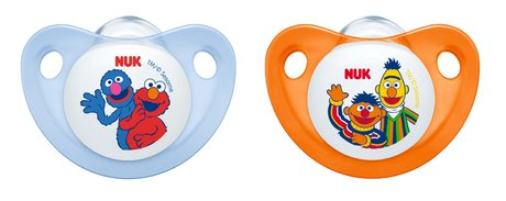 NUK Sesamstrasse TRENDLINE aspirator with ring - The cool pacifier of NUK brand make their great Sesame Street-themed sensation!