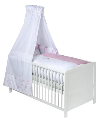 Zöllner bed set - The romatic bed set will make girls' dreams come true.