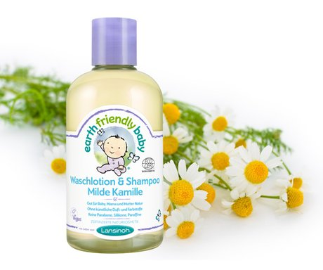 Lansinoh Earth Friendly Baby washing lotion & shampoo Milde Kamille 2016 - большое изображение