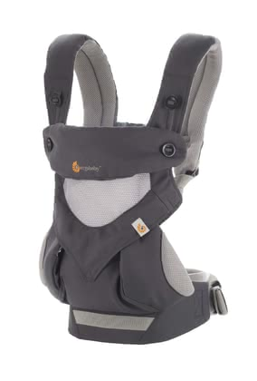 Ergobaby Babytrage 360° Cool Air Mesh Carbon Grey - Großbild