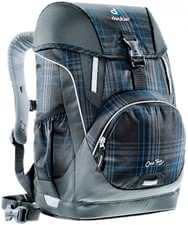Deuter school bag OneTwo in blueline check -  The light school bag OneTwo by Deuter in blueline check is perfectly suitable for children who have just started school and was especially developed for first-graders and second-graders.