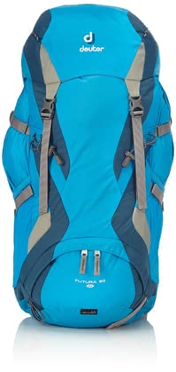 Deuter women's hiking backpack Futura 30 SL turquoise-arctic -  The light women's hiking backpack Futura 30 SL by Deuter is perfect for longer hikes, mountain hikes which last several days or fixed rope routes.