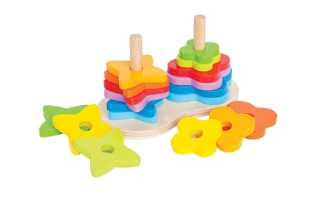 Hape rainbow peg puzzle - The colourful puzzle pieces of the rainbow peg puzzle by Hape will invite your little one to pile up and sort.