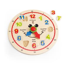 Hape Happy Hour clock - Learning the clock will be easy as pie with the Happy Hour clock by Hape.