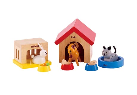 Hape pets - The pets by Hape will complete the doll house family.