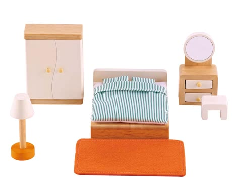 Hape sleeping room - The sleeping room by Hape will provide a restful sleep to the doll parents.