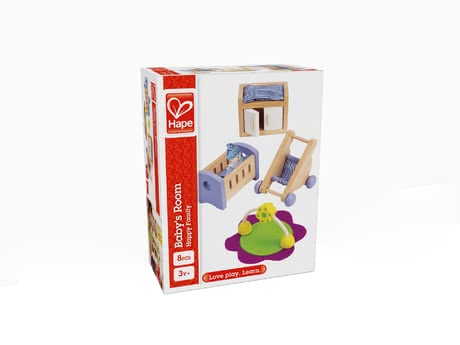 Hape baby's room - The baby's room by Hape will invite your child to have a visionary role play with his/her doll family.