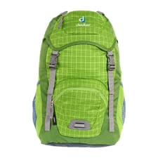 Deuter children's backpack Junior in kiwi check -  Every parent makes the right choice with the Junior children's backpack in kiwi check by Deuter which is a super functional and stylish backpack.