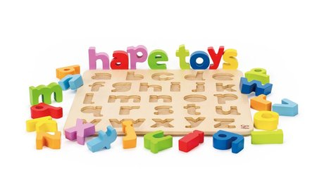 Hape letter puzzle - The letter puzzle by Hape will accompany your little one from being a toddler until the first day of school.