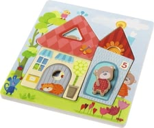 Haba wooden puzzle with bears - The Haba wooden puzzle with bears will support your little one's fine motor skills and suitable for children aged 1 ½ years.