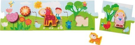 Haba wooden puzzle 3D - The Haba wooden puzzle will delight little puzzle fans with great themes and wooden figures.