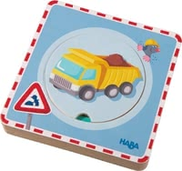 Haba wooden puzzle 3D - Puzzle differently with the woodn puzzle 3D by Haba.