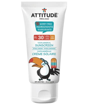 Attitude little ones 100% mineral sun protection with sun protection factor 30 2016 - Image de grande taille