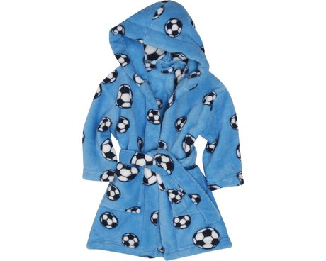 Playshoes Fleece-Bademantel Fußball  bleu 2016 - 大图像