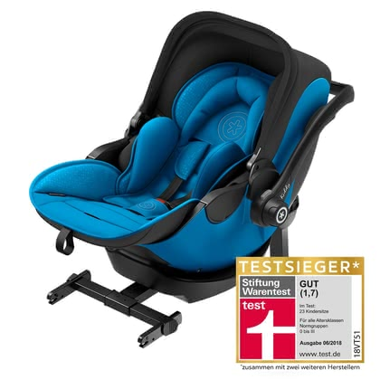 kiddy siège d'enfant evo-luna i-size 2  inclu. kiddy isofix base 2 Summer Blue 2018 - Image de grande taille