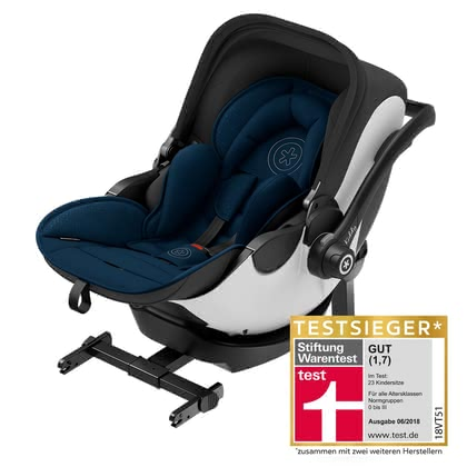 kiddy siège d'enfant evo-luna i-size 2  inclu. kiddy isofix base 2 Mountain Blue 2018 - Image de grande taille