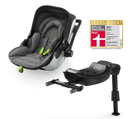 Автолюлька kiddy evo-luna i-Size 2 вкл. базу kiddy isofix base 2 Grey Melange-Super Green 2018 - большое изображение