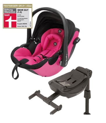 Автолюлька kiddy evo-luna i-Size вкл. базу kiddy isofix base 2 Pink 2016 - большое изображение