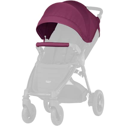 Britax B-AGILE Plus und Britax B-MOTION Plus Canopy Pack Wine Red 2018 - Großbild