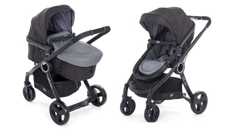 "Chicco Komplettset Urban Plus Crossover + Chicco""Color Pack"" Anthracite 2018 - Großbild"