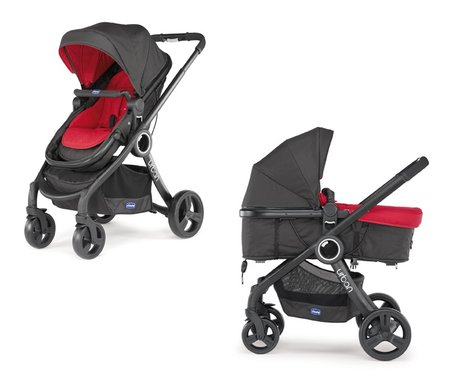 "Chicco Komplettset Urban Plus Crossover + Chicco""Color Pack"" Red Wave 2016 - Großbild"