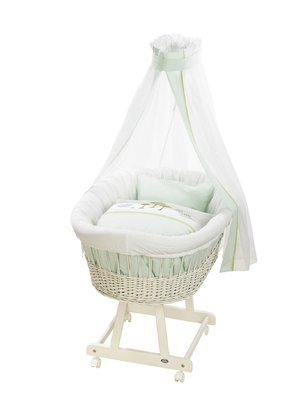 Alvi Komplettset Stubenwagen Birthe, Design Dinos - The Alvi complete set inspires bassinet Birthe Dinos design with its colorful Dino world.