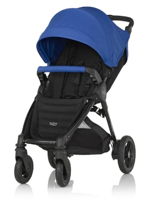 Детская коляска Britax B-MOTION 4 Plus вкл. Canopy Pack Ocean Blue 2018 - большое изображение