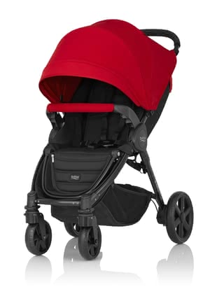 Britax B-Agile 4 Plus inkl. Canopy Pack Flame Red 2018 - Großbild