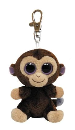 Beanie Boo Clip Affe Coconut - The little happy monkey with his big round eyes spread, attached bag, backpack or Keychain, good mood and atmosphere.