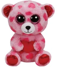 Beanie Boo Bärchen Sweety - The big pink glittering eyes enchant now every children heart. A wonderful companion for your sweetheart. The sweet bear is just perfect to cuddle and love.