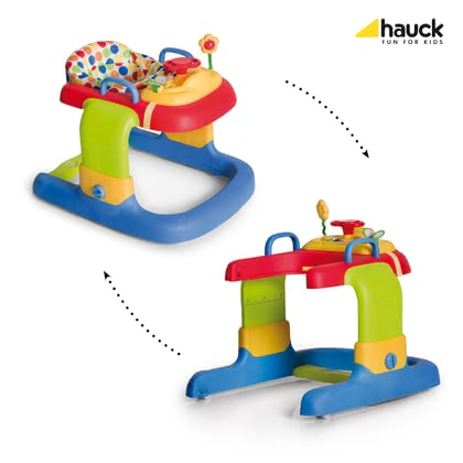 Hauck Lauflerner 2in1 Walker - This colorful 2 in 1 Walker Hauck is in a mobile game Center and trolley. Your child will be thrilled.