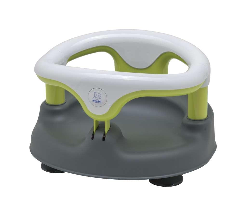 rotho baby badesitz grau wei applegreen online kaufen bei kidsroom wickeln pflegen. Black Bedroom Furniture Sets. Home Design Ideas
