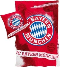 FC Bayern München Bettwäsche - The bright red bedding boasts the giant FC Bayern symbol and lettering and leaves nothing to be desired.