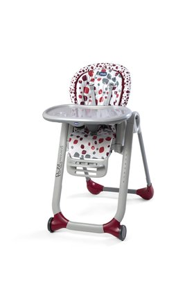 Chicco high chair Polly Progres5 - The Chicco highchair Polly Progres5 is a compact high chair and suitable from birth on.