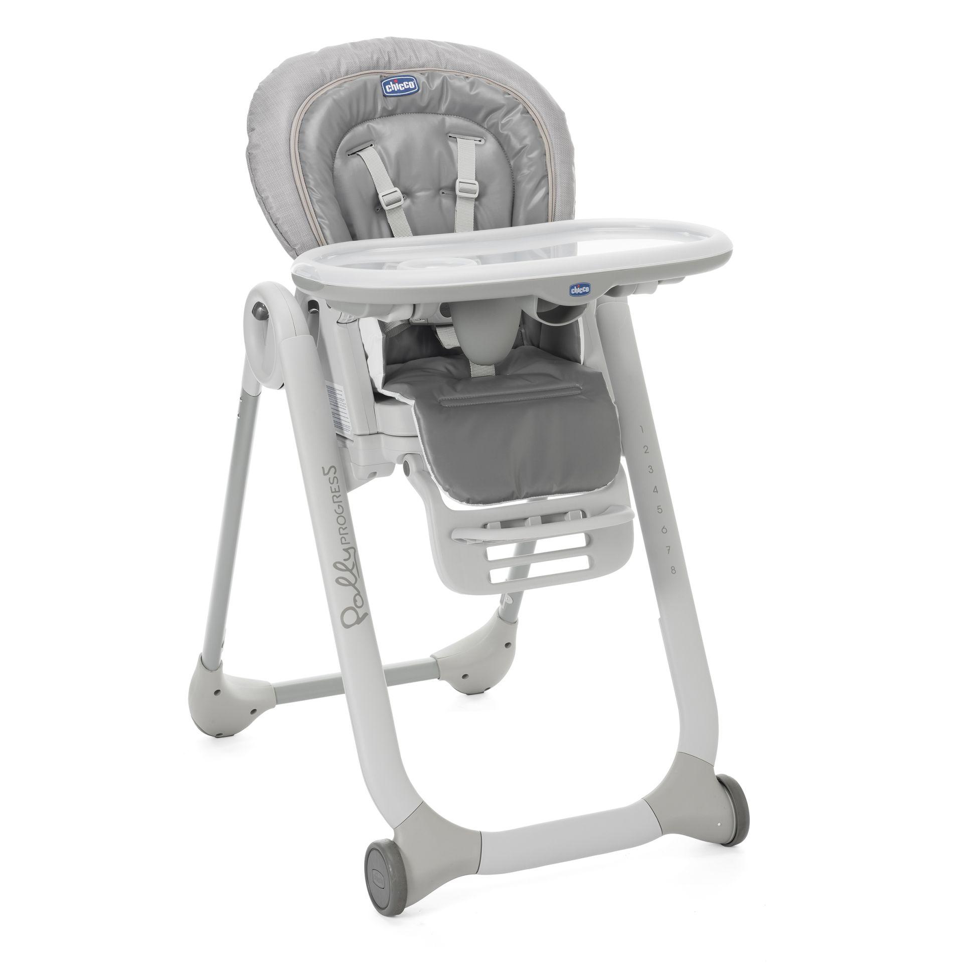 chicco chaise haute polly progres5 2017 stone acheter sur kidsroom b b s la maison. Black Bedroom Furniture Sets. Home Design Ideas
