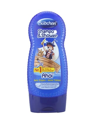 Bübchen Ahoi shampoo & shower - Bübchen Ahoi shampoo & shower – This shampoo & shower guarantees a lot of fun while bathing.