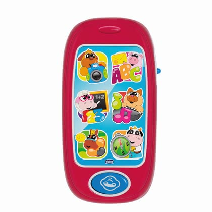 Chicco smartphone - A lot of great games can be discovered on the toy smartphone by Chicco.