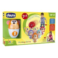 Chicco bowling - Chicco bowling – Consists of six colourful pins with funny monkey faces.</ul<