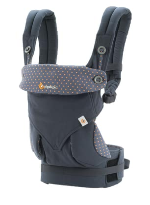 Ergobaby baby carrier 360° Dusty Blue - Bébés aiment le contact direct de ses personnes familières.