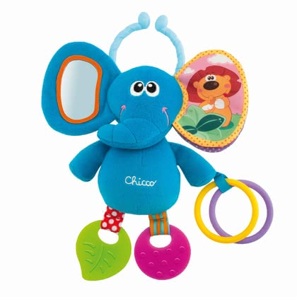 Chicco elephant -  Chicco elephant – The elephant brings rattles, books and crinkly things along.