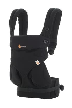 Ergobaby baby carrier 360° Pure Black - Bébés aiment le contact direct de ses personnes familières.