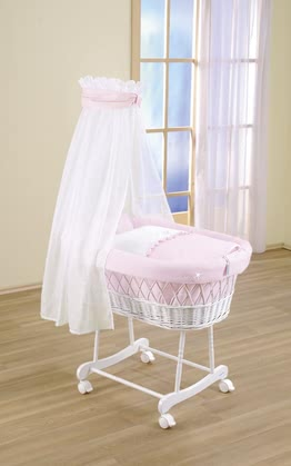Leipold bassinet Fantasia - Leipold bassinet Fantasia – This bassinet including textiles will make your child feel like a princess.
