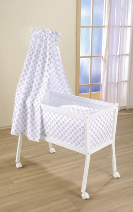 Leipold crib Emma Popstar - The crib Emma by Leipold in a dotted design beds your child simple and comfortable