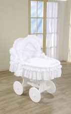 Leipold handcart Damaris - Leipold handcart Damaris – Pure luxury – this handcart will convince you with its elegant white equipment and the hand-braided big wicker basket.