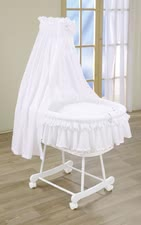 Leipold bassinet Damaris - Leipold bassinet Damaris – This bassinet offers your child a completely equipped and a wonderful place to sleep in an the elegant colour white.