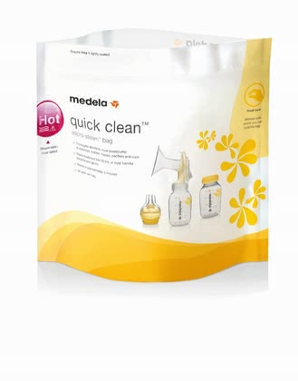 Medela Quick Clean microwave bag – - Medela Quick Clean microwave bag – Sterilising will be very easy with this microwave bag. Safe, quick and useful!