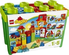 LEGO Duplo deluxe brick box - Classical and extraordinary bricks enrich every box and offer a lot of playing fun. Brick on brick, the house will be ready quick!
