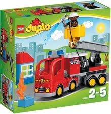 Lego Duplo fire engine - Lego Duplo fire engine – This fire engine is waiting for brave fire fighters.