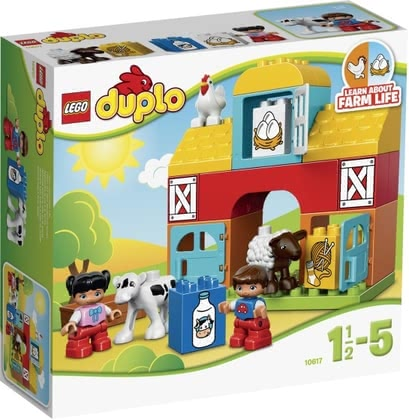 LEGO Duplo My first farm - Lego Duplo My first farm – Living life on a farm – reenacting this is possible with the Lego Duplo My first farm.
