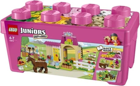 LEGO Juniors pony farm - Thanks to this set by LEGO your little one will be able to built a little pony farm. This set contains everything which is needed to construct this farm.